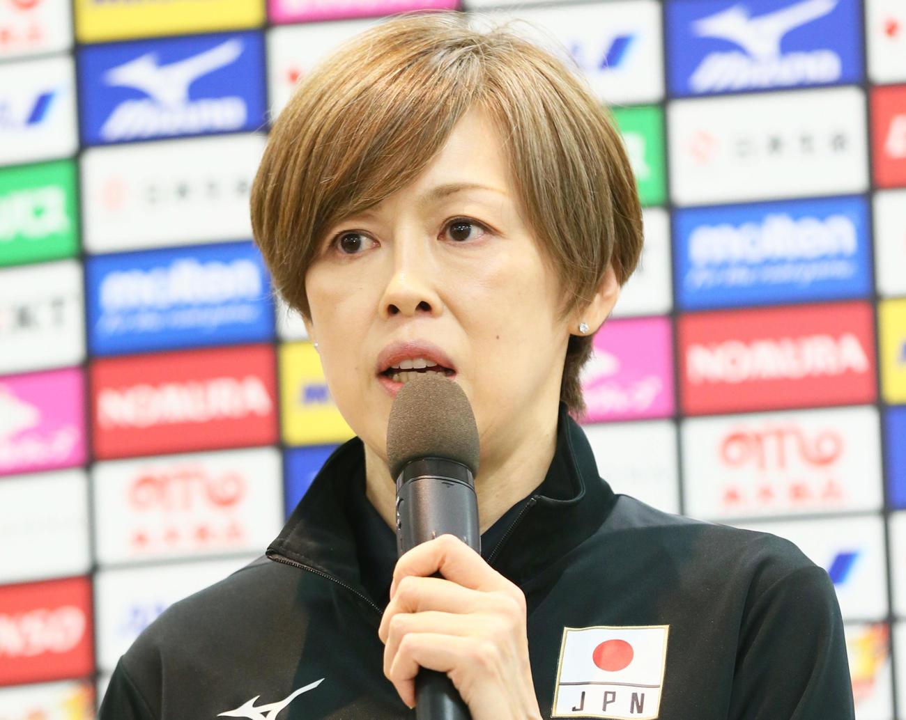 バレーボール女子日本代表中田監督(2019年4月24日撮影)