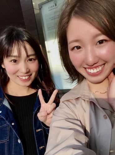 大好きな坂咲友理選手(左)と