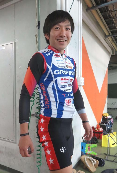 来期に初めてS級入りする恩田淳平。S級パンツがところどころぶかぶかで真新しさを感じさせる