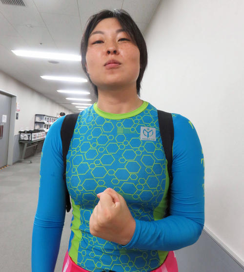 函館市出身の三尾那央子選手(撮影・栗田文人)