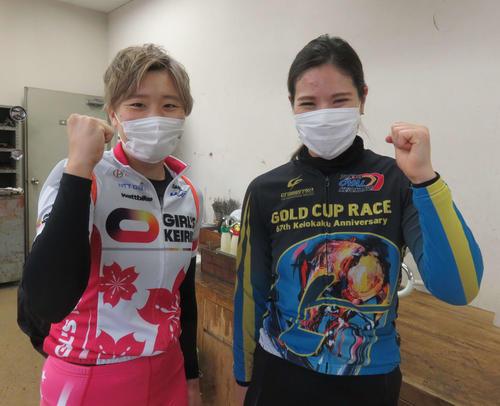 <9>石井貴子(右)と<10>岡本二菜