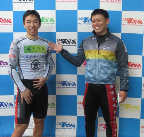 菊池岳仁(左)に離れながらも、うれしい復帰後初勝利を挙げた横山尚則