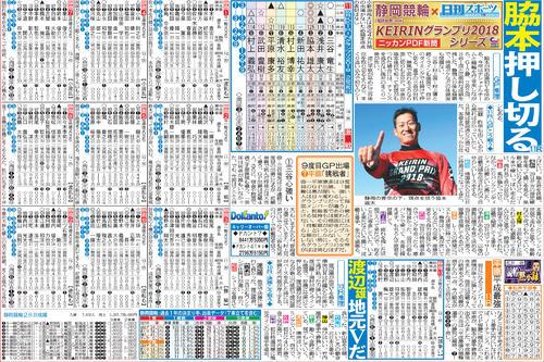 車券作戦に役立つ情報を無料で先取りできる「ニッカンPDF新聞」の一例