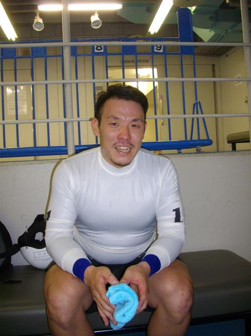 予選2Rで、しっかり重責を果たした佐山寛明が笑顔を見せた