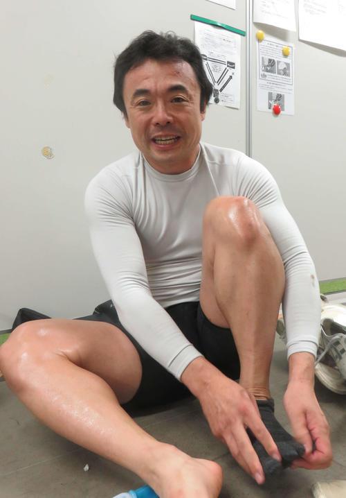 オープニングレースを快勝した山田雅之(撮影・栗田文人)