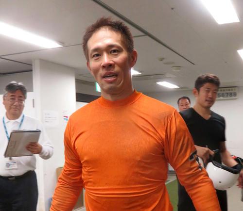 完全Vを狙う山田祥明(撮影・栗田文人)