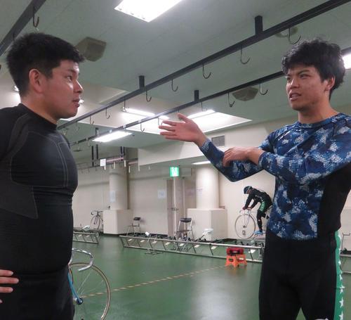 111期同士の内田淳(右)と大中拓磨が対戦した予選1Rを振り返る