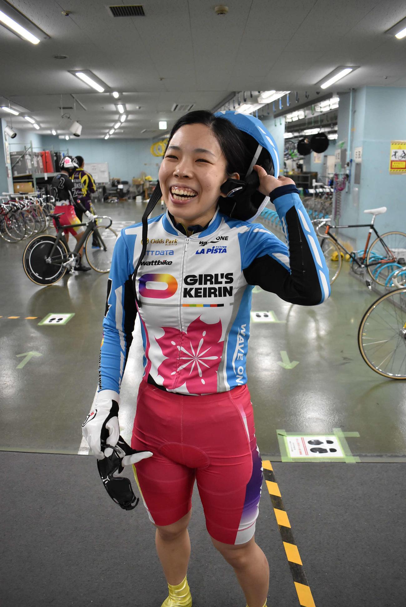 確かなコース取りで決勝切符をゲットした田口梓乃
