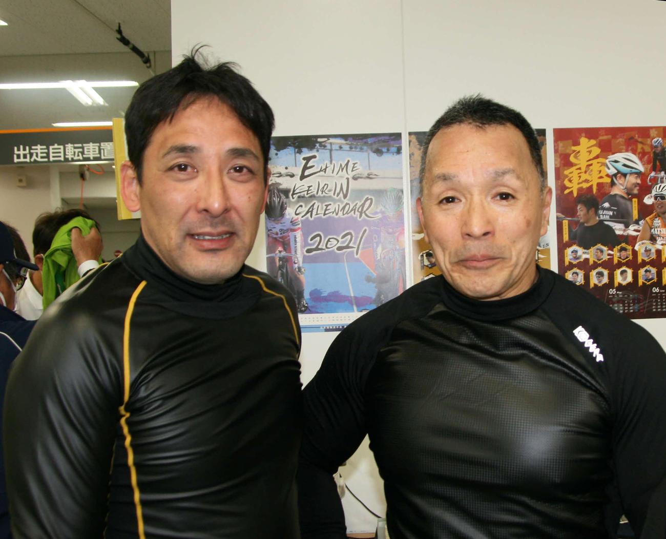 1Rは柳沢達也(左)と中武克雄で足して105歳のベテランコンビがワンツーフィニッシュ(撮影・秋山正則)