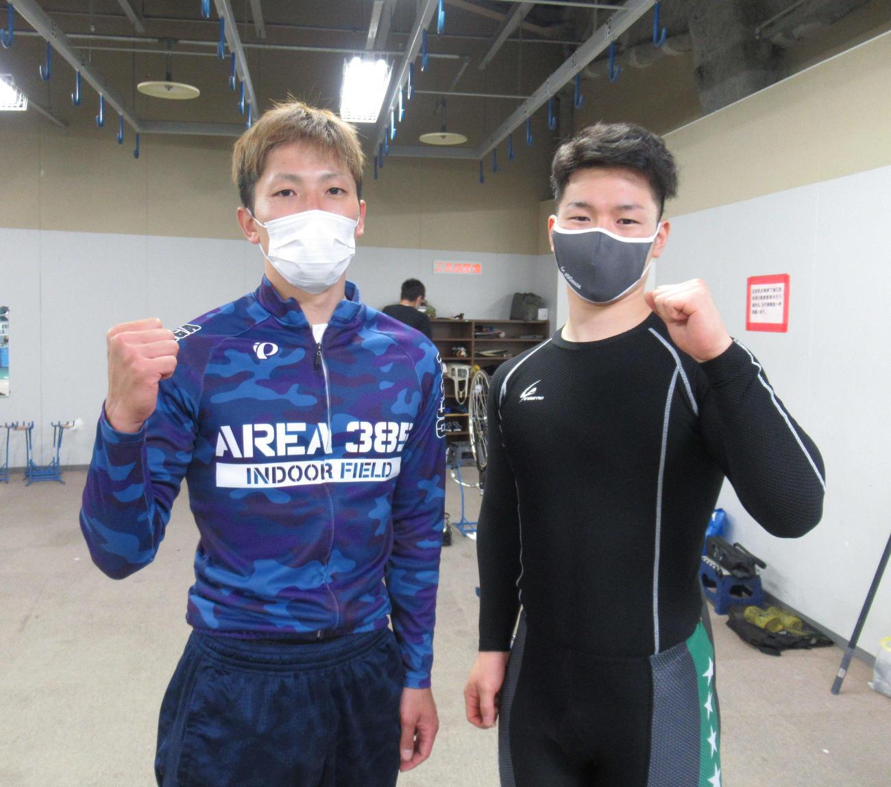 決勝でもワンツーを目指す好永晃(左)と立部楓真(撮影・山田敏明)