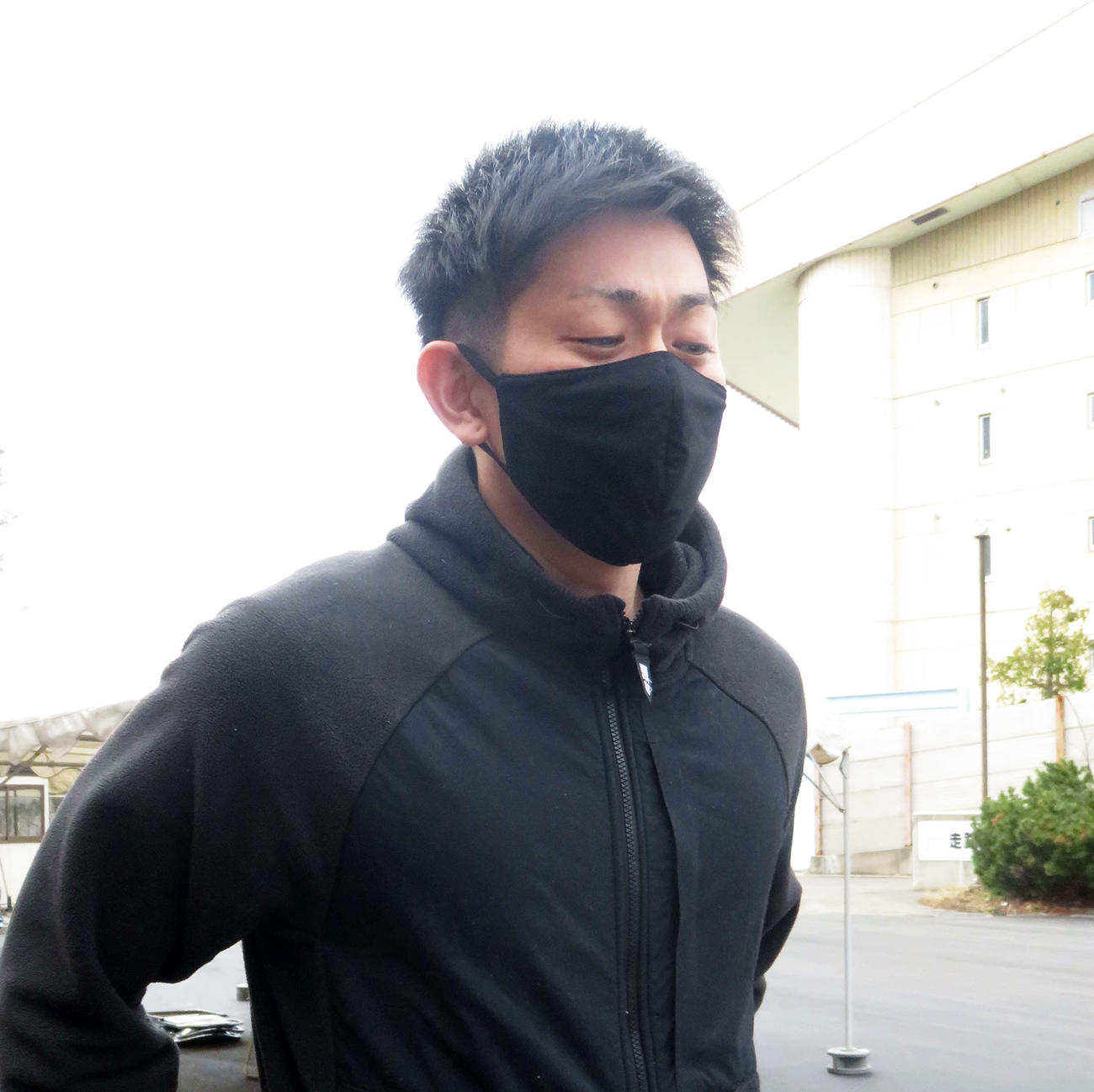 復帰戦での大敗でやる気が入った松沢敬輔(撮影・山本幸史)
