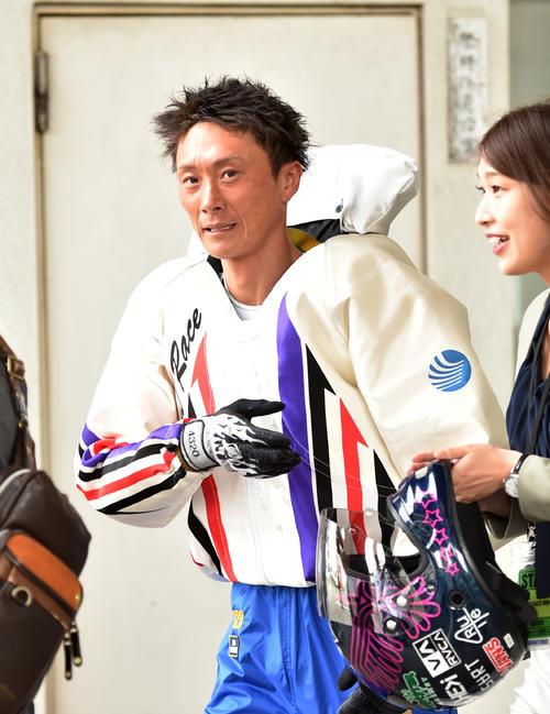 SGグランドチャンピオン初日、12Rドリーム戦で1着の峰竜太(撮影・柴田隆二)