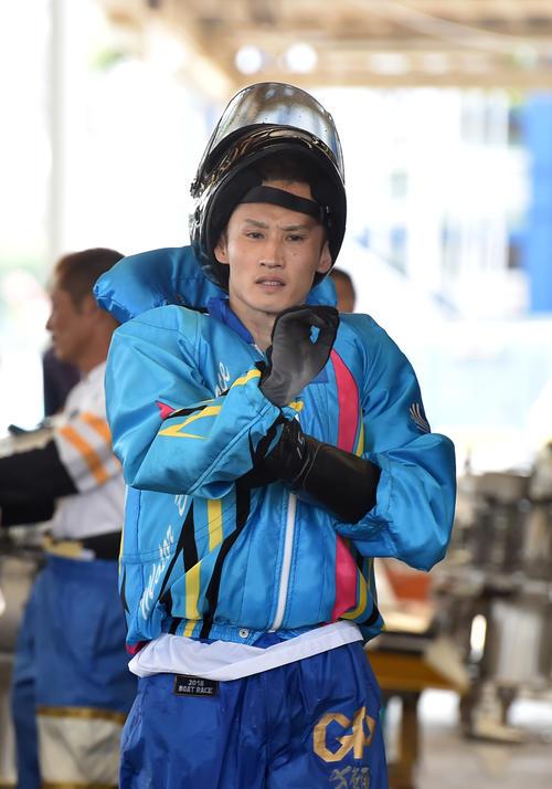 SGグランドチャンピオン2日目、4R予選で2着の白井英治(撮影・柴田隆二)