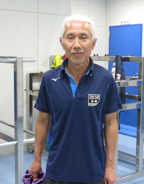 70歳の高橋二朗が元気いっぱいだ(撮影・工藤浩伸)