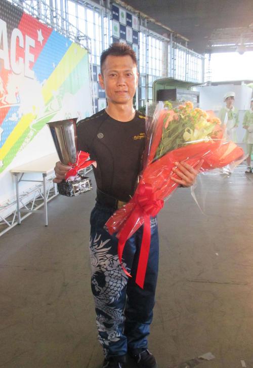尼崎G3で今年5回目の優勝を飾った深川真二。今後のSG戦線が注目される(撮影・江崎禎紀)