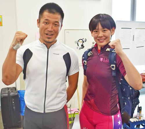 高木佑真は師匠の白戸淳太郎(左)との同時参加に緊張気味