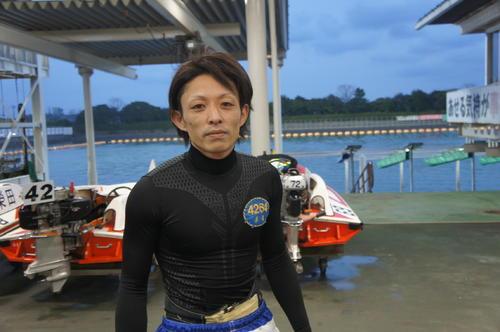 長尾章平がエース63号機を駆って今年3回目の優勝に挑む(撮影・山崎千郷)