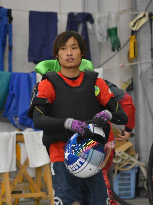上田龍星は準優10Rを2コース差しで勝ち、3連単万舟を演出した(撮影・栗原ひろ人)