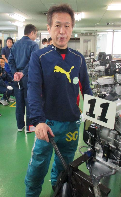 今節も好素性機を引いて、尼崎に続いて連続優勝を狙う西島義則