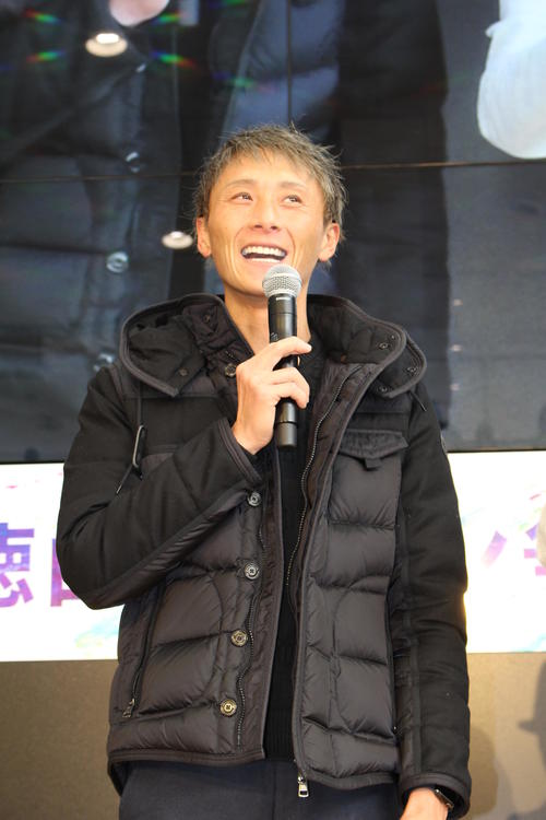 G1徳山クラウン争奪戦のトークイベントに来場した峰竜太(撮影・芹沢誠)