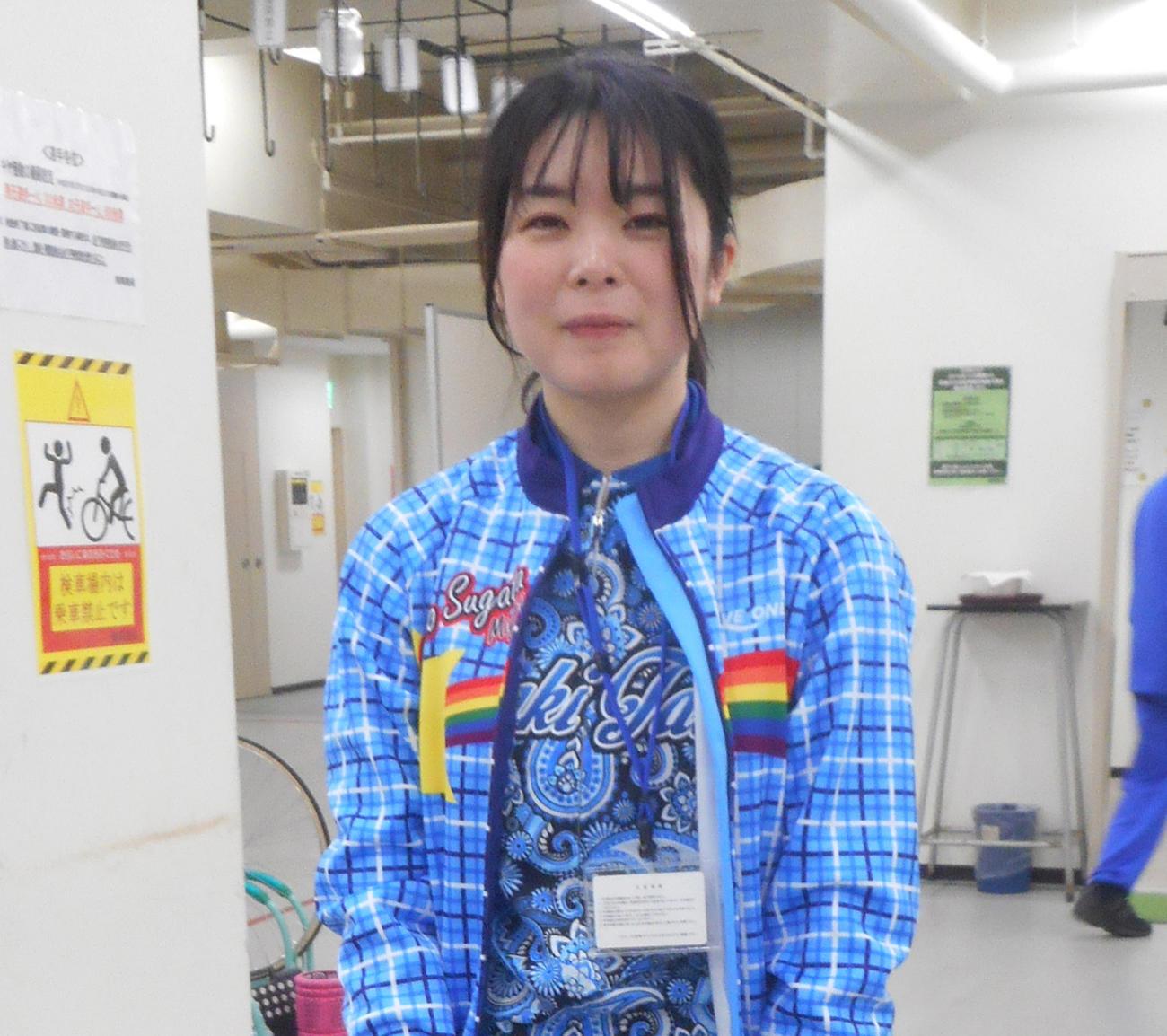 ブログで次回いわき平での引退を報告した菅田賀子は今開催も全力で上位を狙う(撮影・岡田晋)