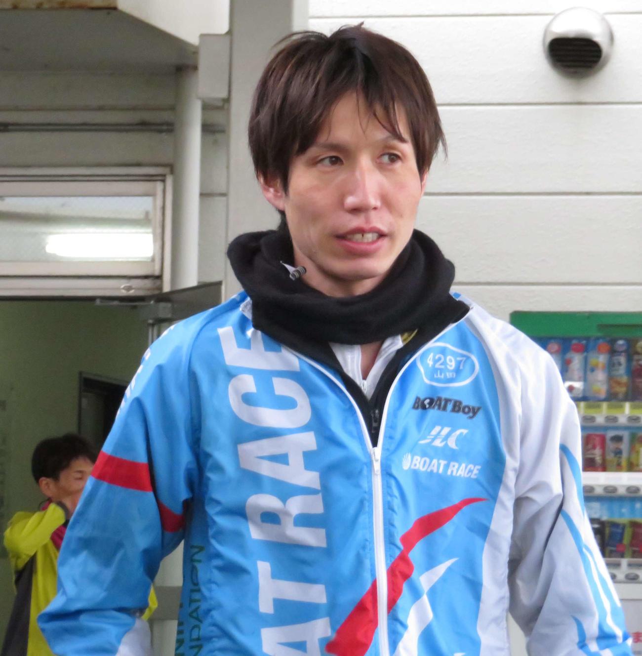 山田哲也が初日選抜戦1号艇で登場する(撮影・古村亮)