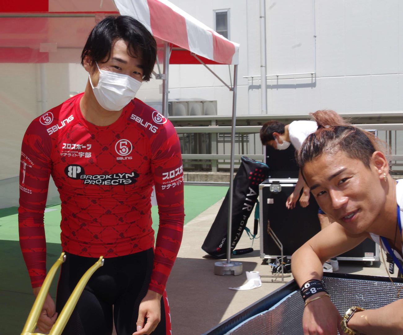 特選でタッグを組む近藤龍徳(右)と宮本隼輔