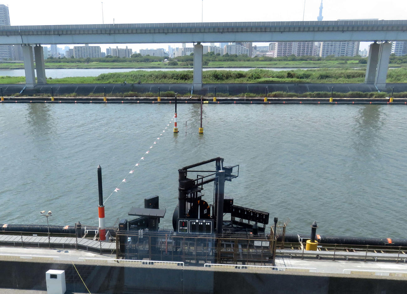 3Rで5艇によるフライングが発生した江戸川ボート(撮影・野島成浩)