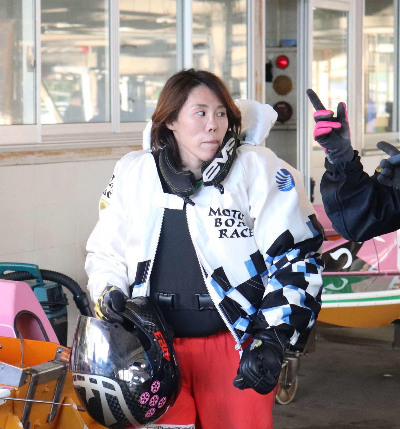 細川裕子が2日目メインのツーコドリーム戦を1着。オール2連対と好調なペースで突っ走る(撮影・工藤浩伸)