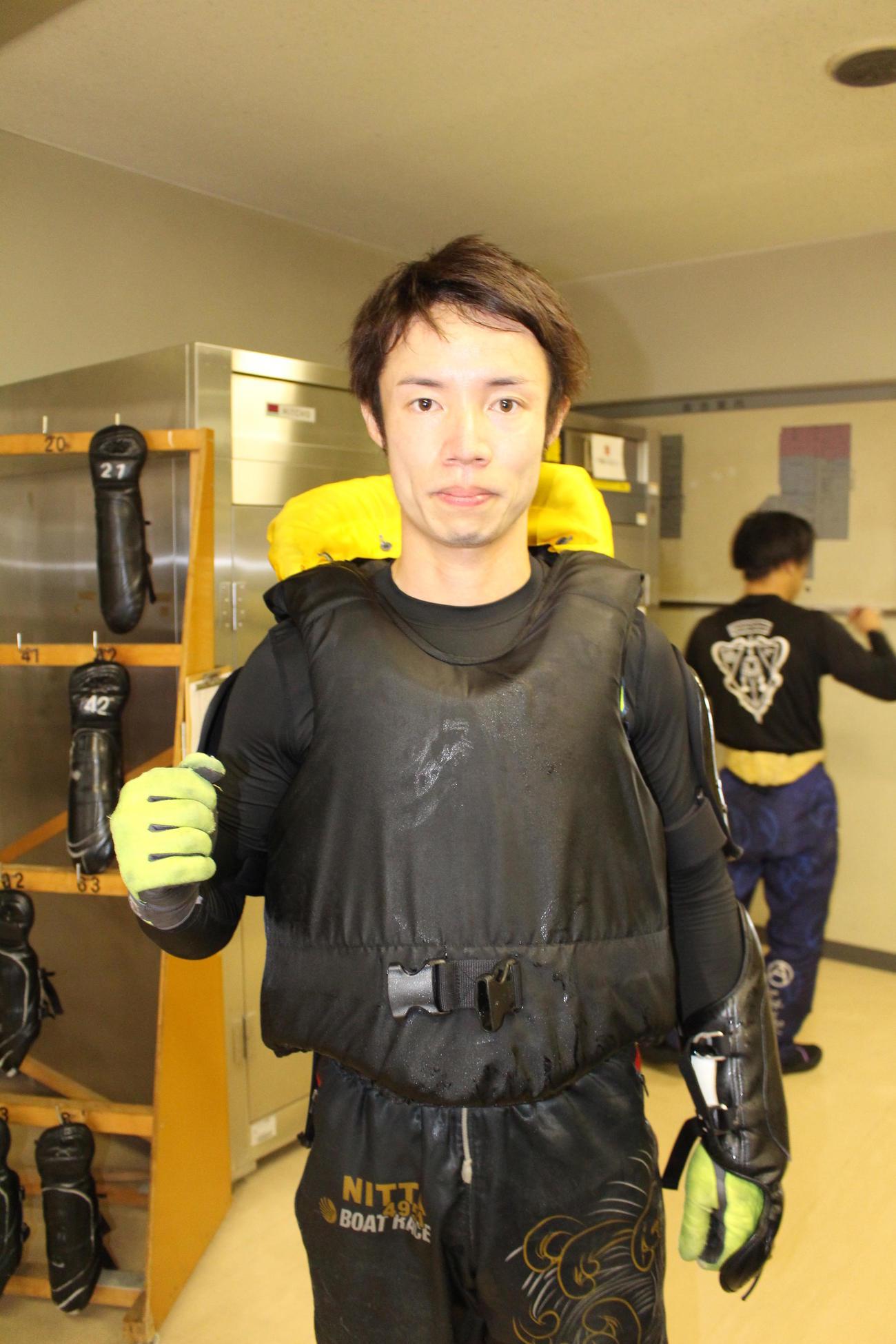 新田洋一が芦屋エース38号機を相棒に、3日目も縦横無尽に駆け抜ける(撮影・芹沢誠)