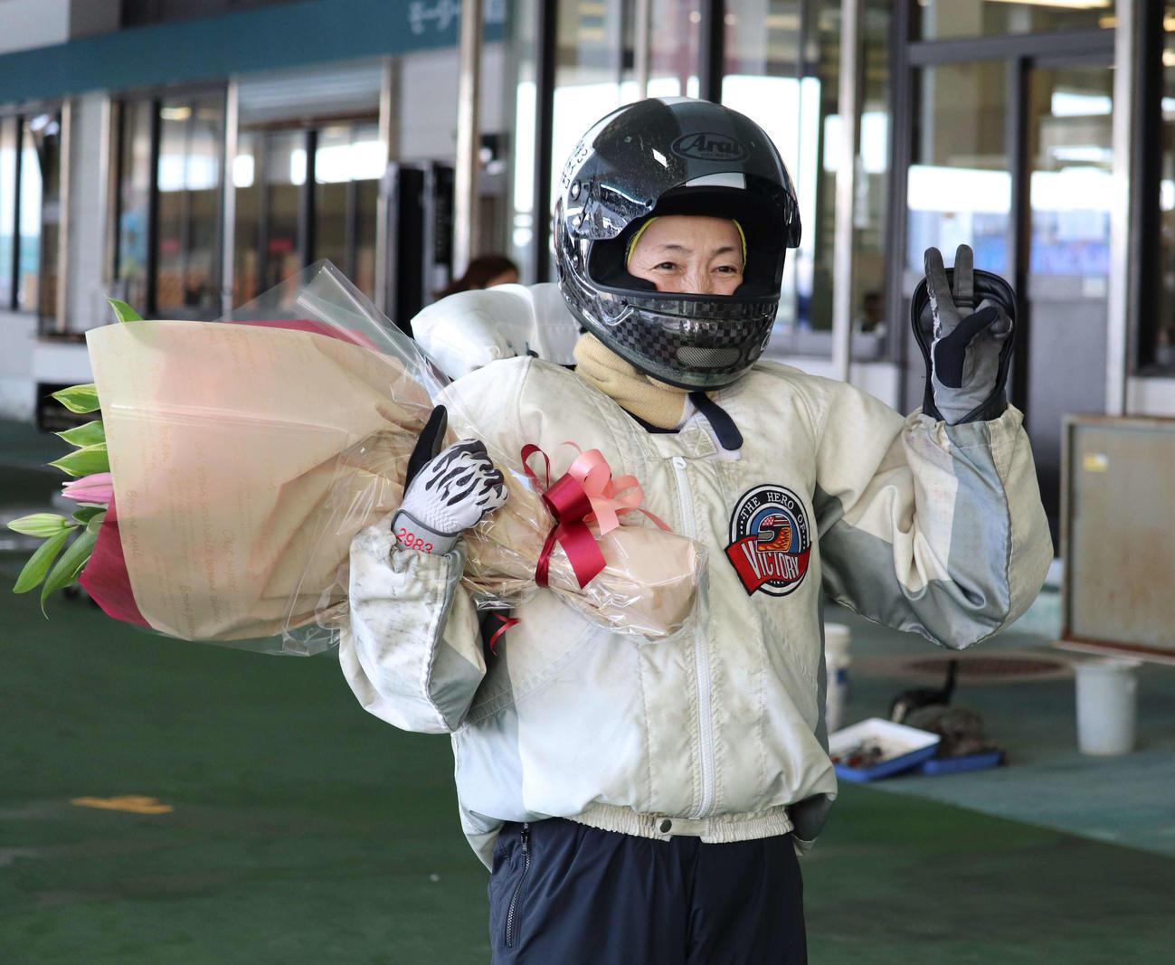 鵜飼菜穂子が引退レースを白星で締めくくった(撮影・工藤浩伸)
