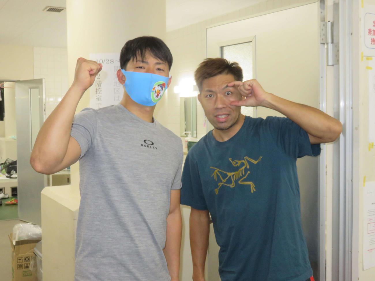 内藤秀久(右)が総力戦の佐々木龍を目標に優勝を狙う