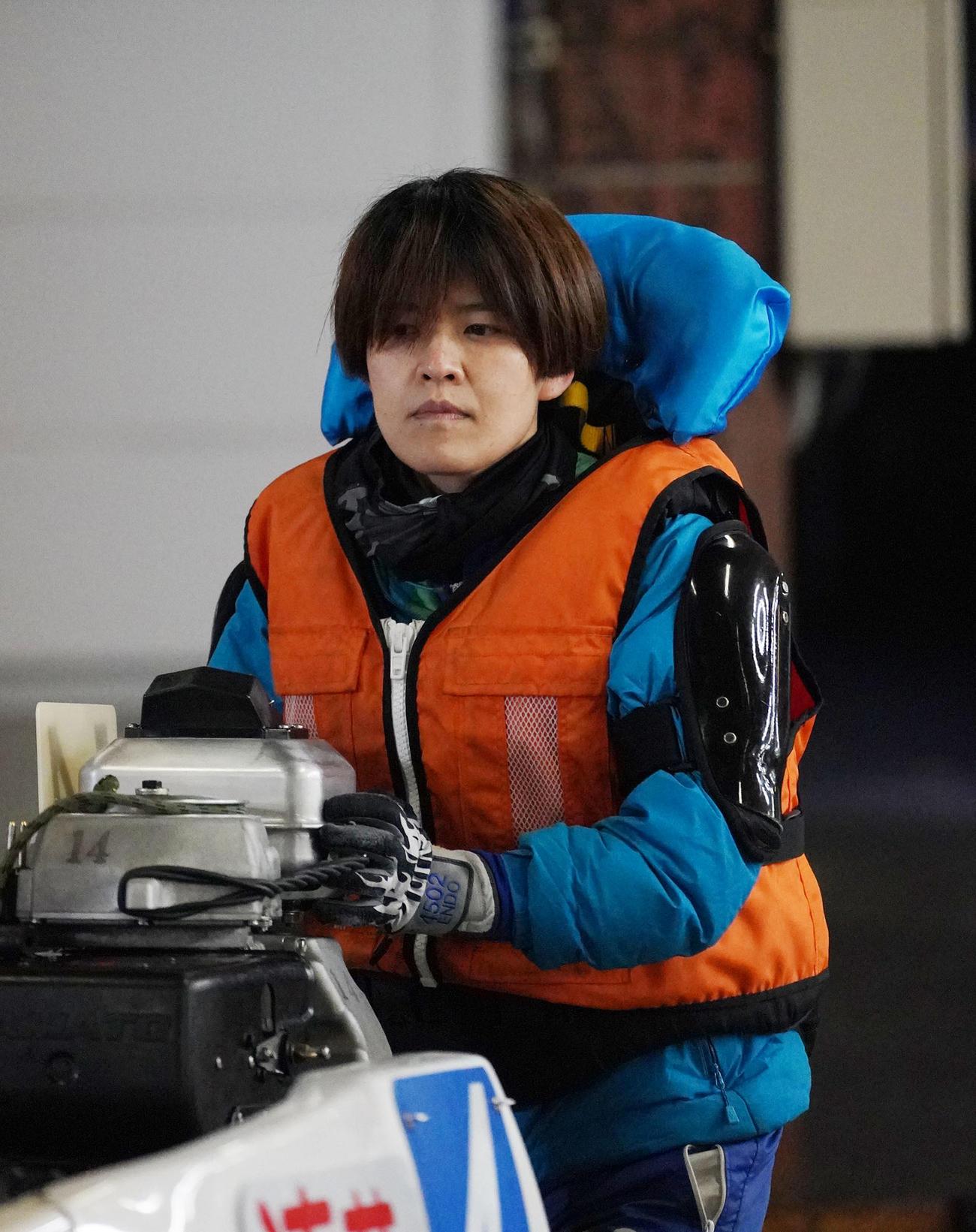 優勝戦4枠を得た遠藤エミ(2021年1月12日撮影)