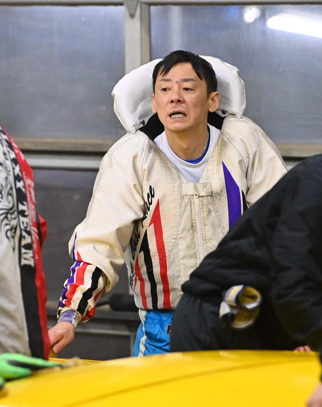 準優12Rを制した湯川浩司(撮影・上田博志)