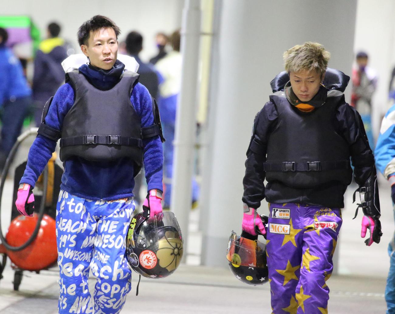 木下翔太(左)と丸野一樹(撮影・渦原淳)