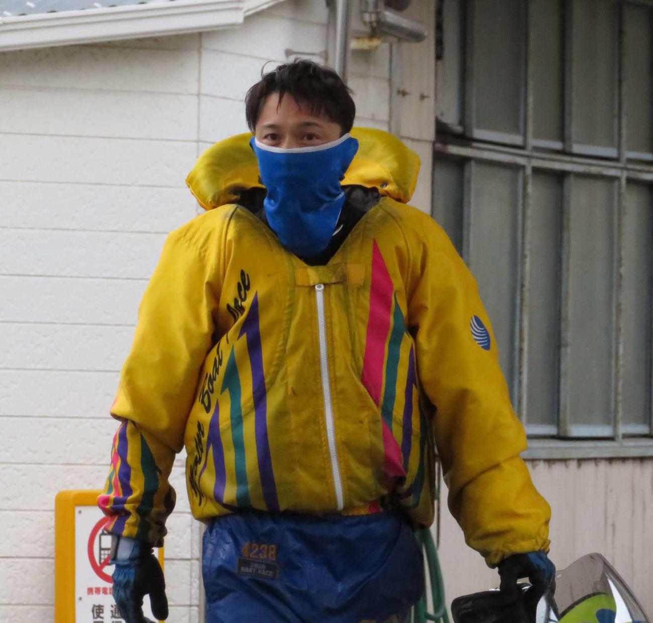 多摩川3連続優勝に王手をかけた毒島誠(撮影・古村亮)