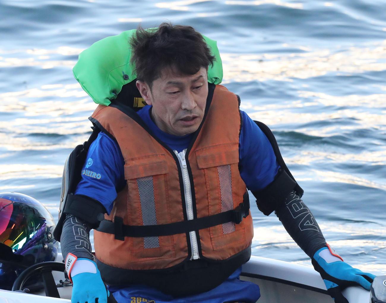 吉川元浩は伸びに手応えを感じたが、ペラ調整に悩む(撮影・屋方直哉)