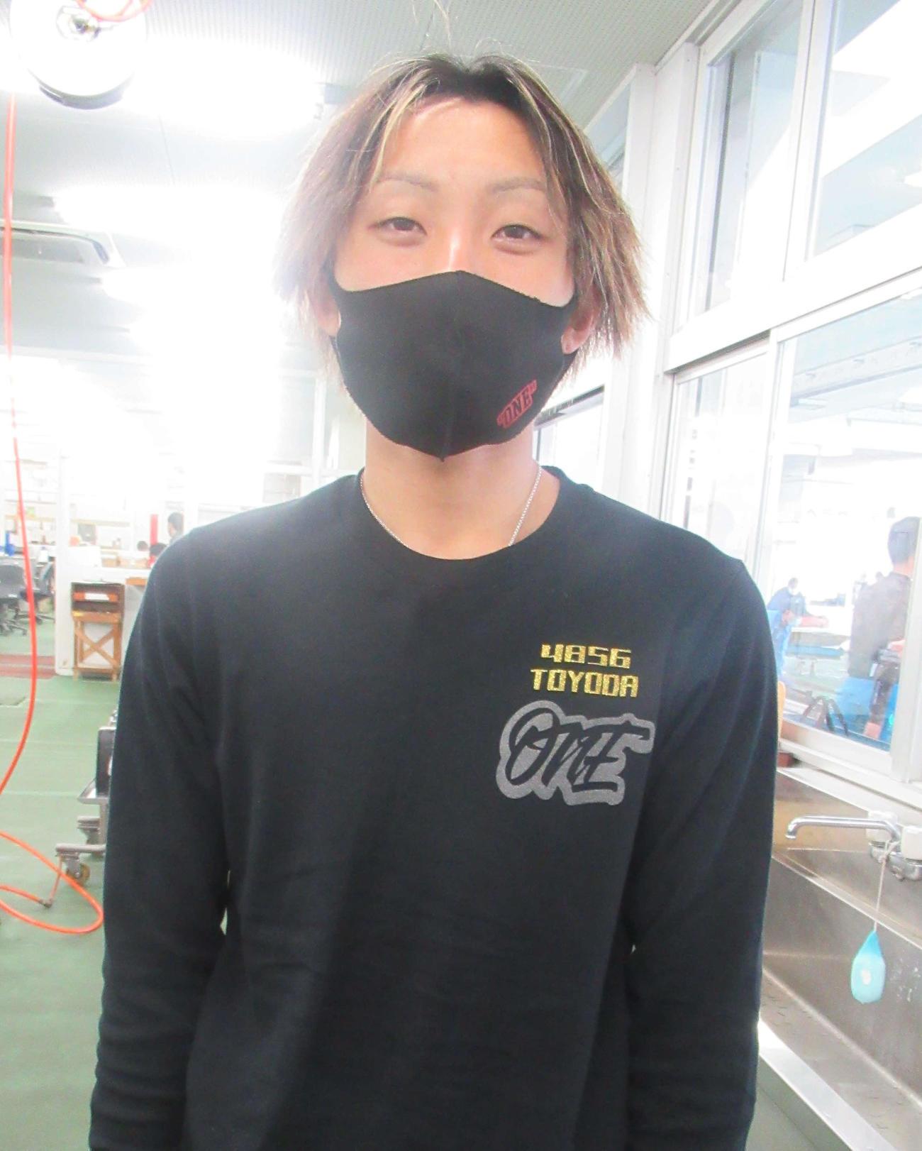 初日12Rドリーム戦、1枠に抜てきされた豊田健士郎(撮影・奈島宏樹)