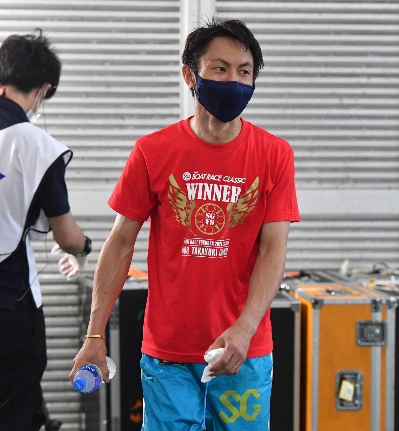 SGグランドチャンピオン2日目 4R、1着の4266長田頼宗(撮影・岩下翔太)