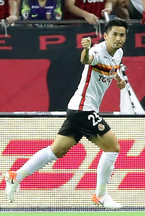 19年8月、ゴールを決めて喜ぶ前田