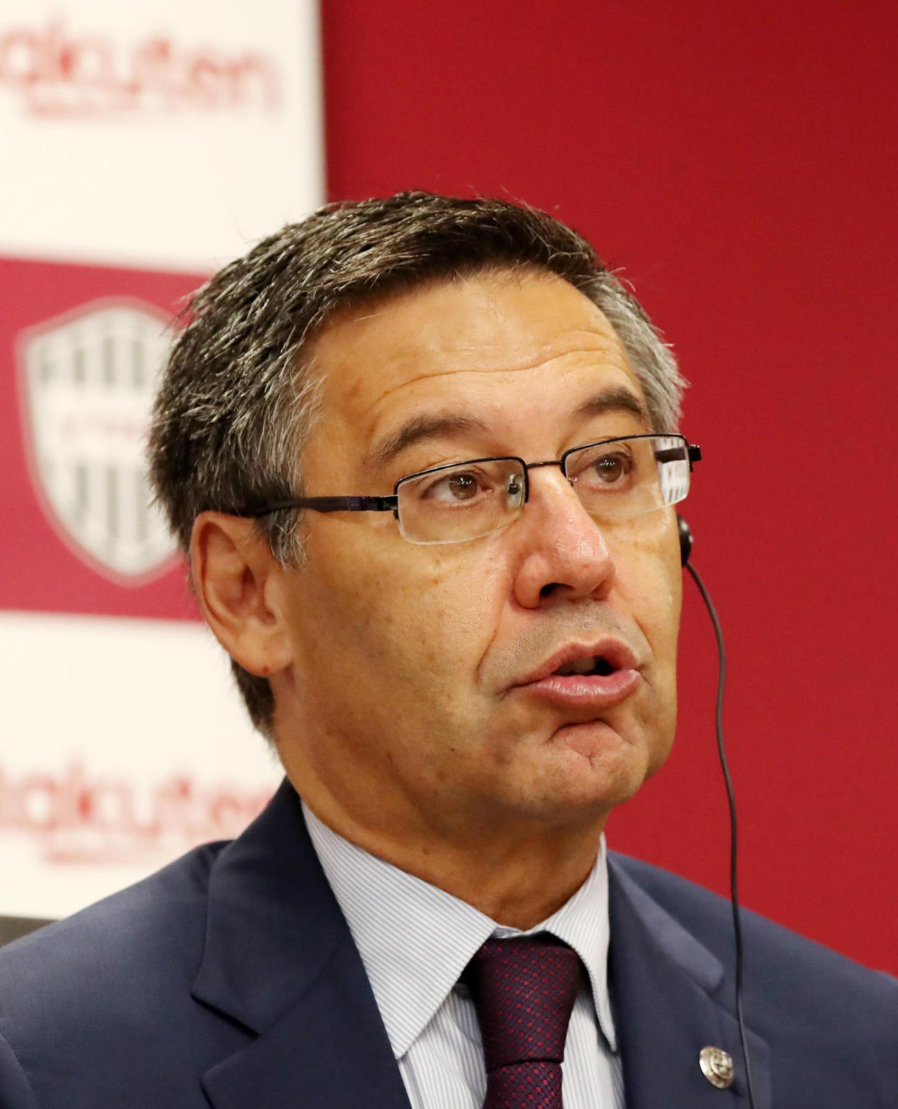 FCバルセロナのバルトメウ前会長(2019年7月27日撮影)