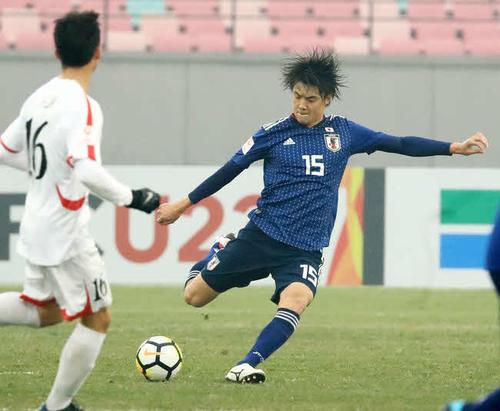 U-23日本代表でもプレーしたクマガヤSC出身の庄司朋乃也(18年1月16日)