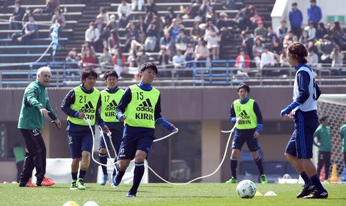 16年3月に行われたサッカー日本代表国内組対象代表候補合宿