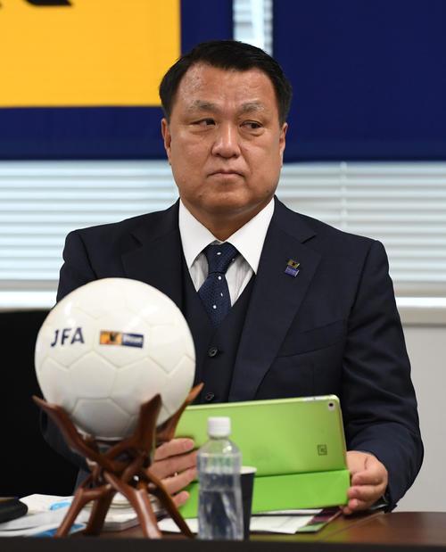 田嶋幸三会長(2018年7月26日撮影)