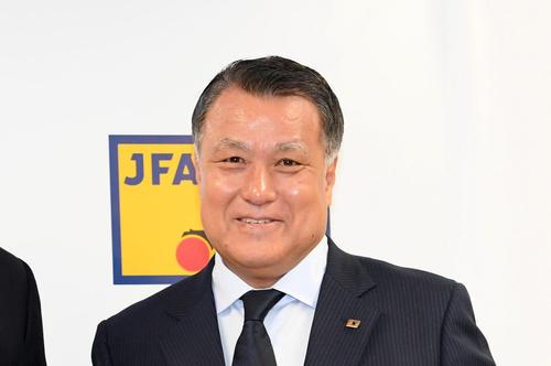 日本サッカー協会の田嶋幸三会長(2019年9月5日撮影)