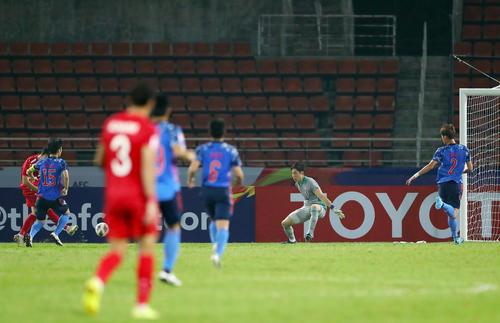 U-23日本対U-23シリア 後半、勝ち越しを許した日本(撮影・前田充)