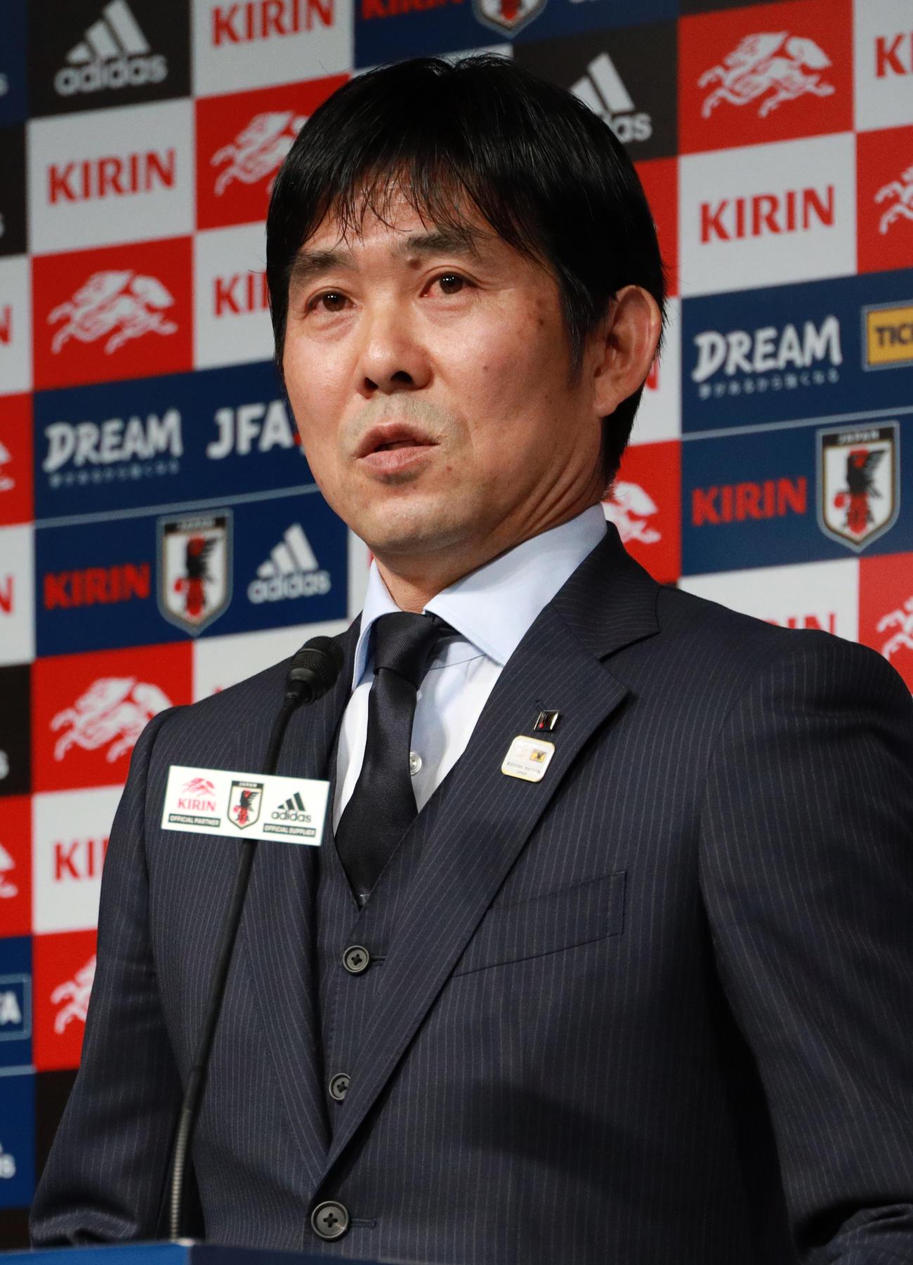 日本代表森保一監督(19年12月20日撮影)