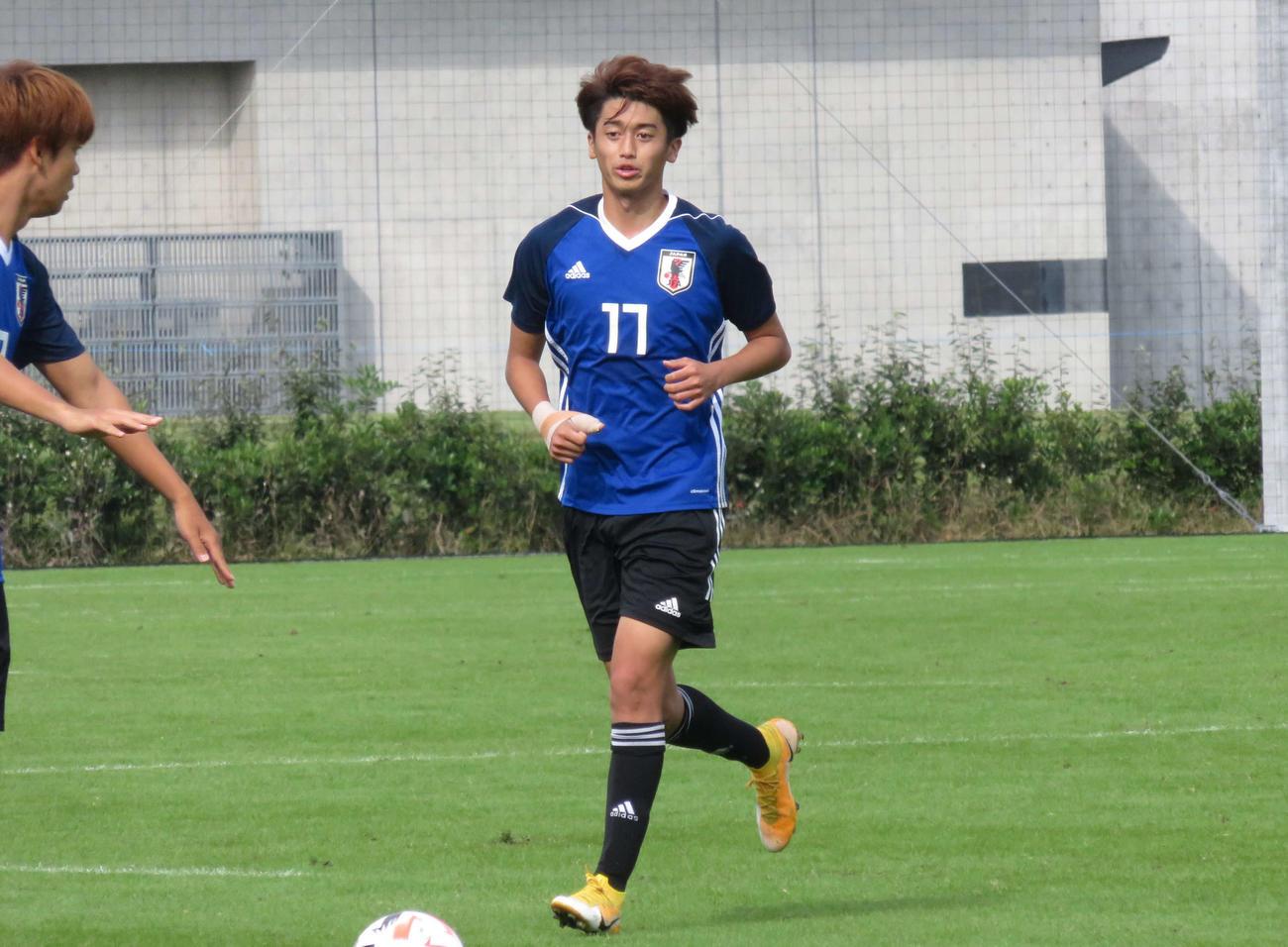 水戸との練習試合で得点を決めた、セレッソ大阪のU-19日本代表候補FW西川潤