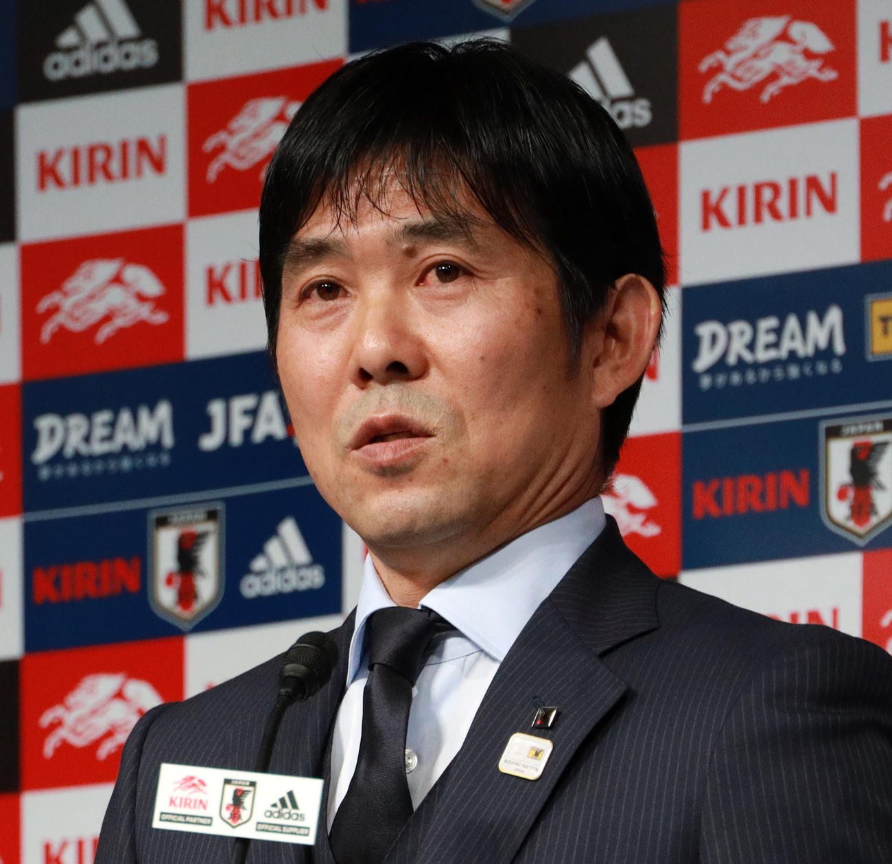 日本代表森保一監督(19年12月撮影)
