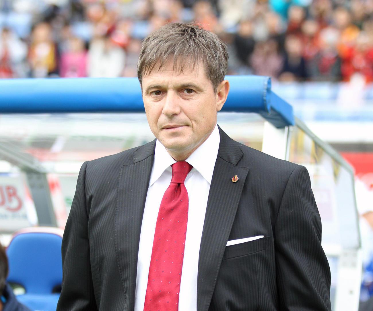セルビア代表のストイコビッチ監督(2013年11月10日撮影)